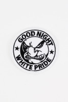 Aufnäher Good Night White Pride White